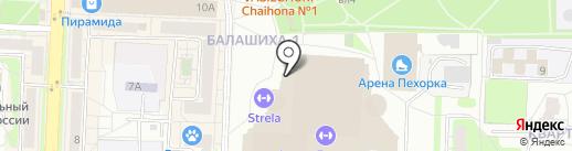 Огни Балашихи на карте Балашихи