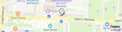 Адамас на карте Балашихи