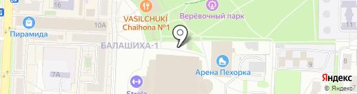 Открытая любительская хоккейная лига городского округа Балашиха на карте Балашихи