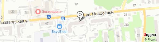 Мокша на карте Ивантеевки