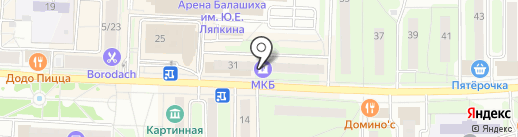 Банкомат, Московский кредитный банк, ПАО на карте Балашихи