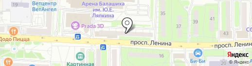 МОСКОВСКИЙ КРЕДИТНЫЙ БАНК на карте Балашихи