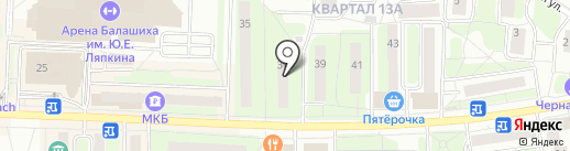 Нарколог в Балашихе на карте Балашихи