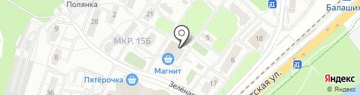 Рублёвский на карте Балашихи