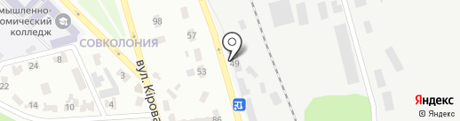 Донрекком на карте Макеевки