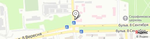 Амбулатория №3 на карте Макеевки