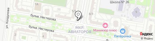 Магазин фруктов и овощей на карте Балашихи