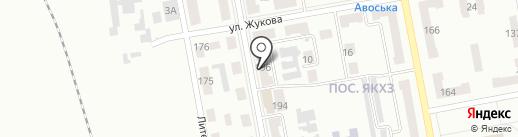Импульс, продовольственный магазин на карте Макеевки