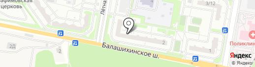 Лера на карте Балашихи