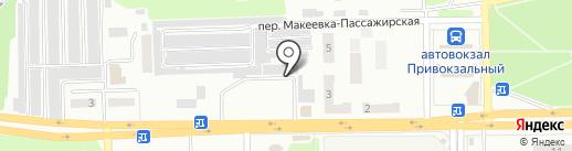 Хлебный киоск на карте Макеевки
