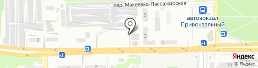 Магазин хлебобулочных изделий на карте Макеевки