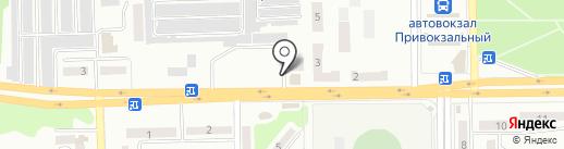 Киоск по продаже продуктов питания на карте Макеевки