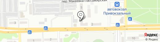 Привокзальный на карте Макеевки