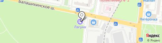 Нимфея на карте Балашихи