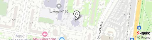 Детский сад №48, Журавушка на карте Балашихи
