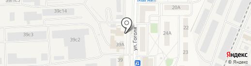 Инесс на карте Томилино