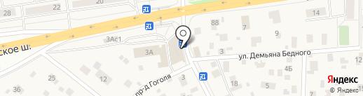 Стежочек на карте Томилино