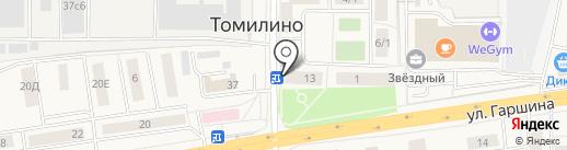 Цветочный магазин на карте Томилино