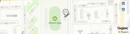 Авангард, стадион на карте Макеевки