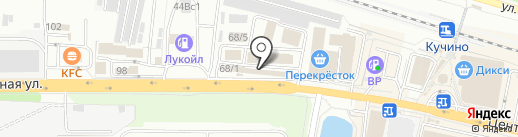 Крепмаркет на карте Железнодорожного