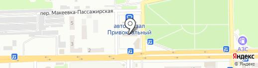 Эклер на карте Макеевки