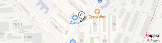 Сеть цветочных магазинов на карте Томилино