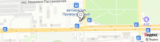 Шахтер на карте Макеевки
