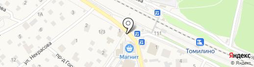 Магазин разливного пива на карте Томилино