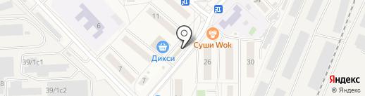 Магазин овощей и фруктов на карте Томилино