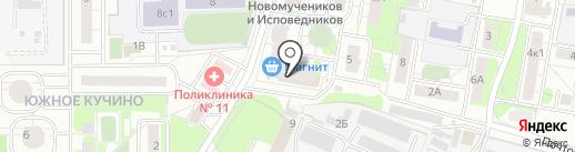 Агата на карте Балашихи