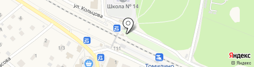 Томилино на карте Томилино
