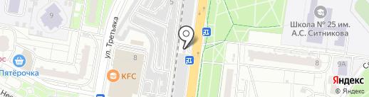 Колесница на карте Балашихи