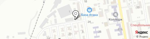 Чайкино, автосервис на карте Макеевки