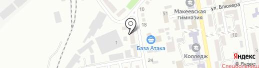 За рулем на карте Макеевки