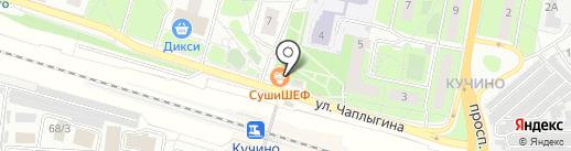 Манюня на карте Балашихи