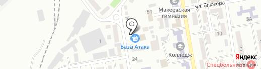 Западная на карте Макеевки