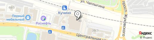 Шапка-шляпка на карте Железнодорожного