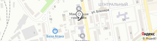 Велюр на карте Макеевки