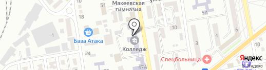 Макеевский профессиональный горный лицей на карте Макеевки