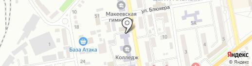 Юнна на карте Макеевки