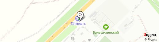 АЗС Татнефть на карте Балашихи