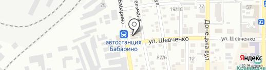Памятники, магазин на карте Макеевки