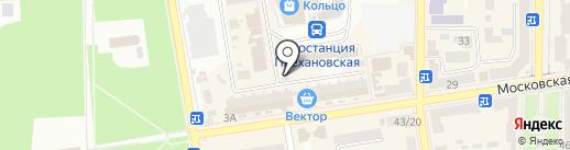 Киоск по продаже фастфудной продукции на карте Макеевки
