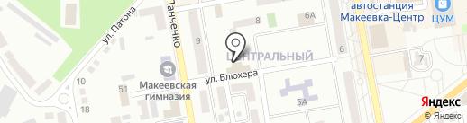6 микрорайон на карте Макеевки