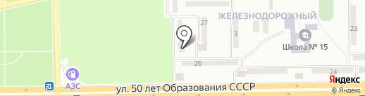 Домашний на карте Макеевки