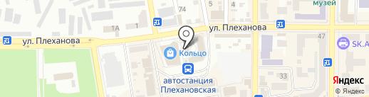 Кольцо на карте Макеевки