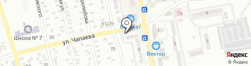 Трёшка на карте Макеевки