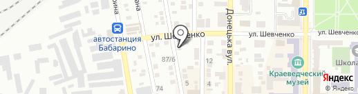 Автокомплекс на карте Макеевки