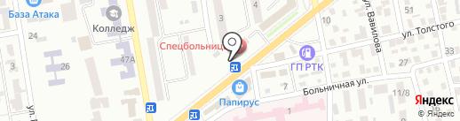 Каштан на карте Макеевки