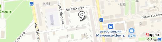 Ключ здоровья на карте Макеевки